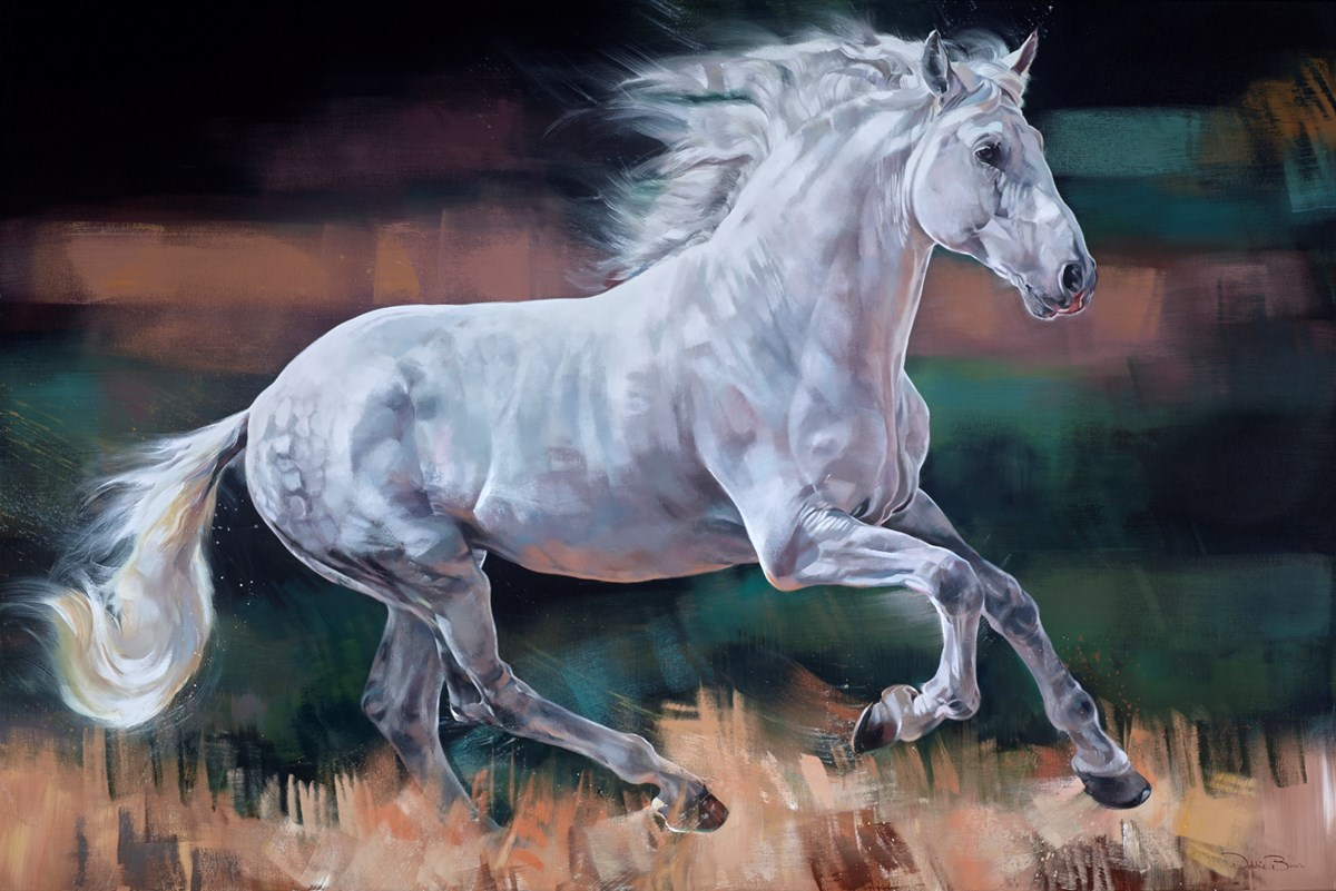 Galloping Grey by debbie boon -  sized 71x47 inches. Available from Whitewall Galleries